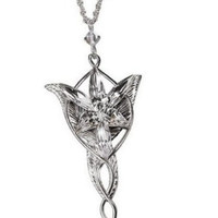 The Lord of the Rings Elf Princess Evening Star Silver Necklace Niceroker Fashion