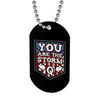 Q Anon Dog Tag Beaded Necklace You Are The Storm American Flag White Rabbit Follow the Rabbit Patriotic QAnon Gift