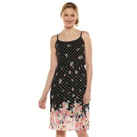 ELLE Floral Pleated Midi Dress - Women's