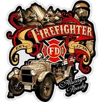 Elite Breed Firefighters Always Ready Reflective Decal