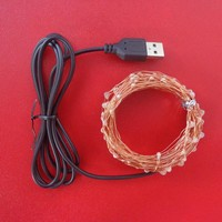 USB Powered by 5V Christmas Lights 10M 100LED Waterproof Led Light Copper Wire Christmas Decorations For Home Lighting