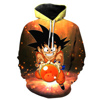 Kid Goku & The 4 Star Dragon Ball Dragon Ball Z Hoodie
