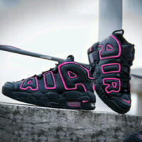 Nike Air More Uptempo Big R Scottie Pippen Black/Rose Sport Basketball Shoes G-FEU-SY