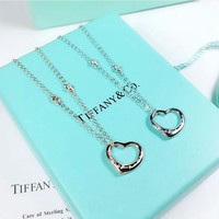Tiffany & Co Fashion new love heart pendant women sterling silver necklace