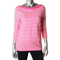 Kate Spade Womens Knit Striped Pullover Top