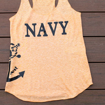 Navy shirt with anchor