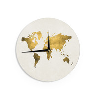 "Chelsea Victoria ""Let Love Light The Way"" Gold Love Wall Clock"
