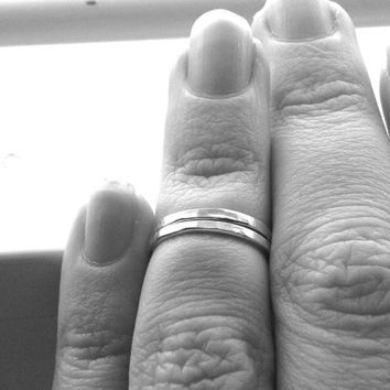 Two Knuckle RIngs, Sterling Silver Midi RIngs, Over the Knuckle RIngs, 2 Stacking Rings, Knuckle Ring Bands, Two Midi Rings