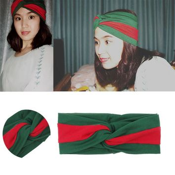 Day-First™ Women Headband 2017 Headscarf Cotton Twisted Cross Head Wrap Classic Turban Head Scarf Lady Turbante New 2017 Red and