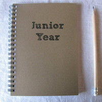 Junior Year  5 x 7 journal by JournalingJane on Etsy