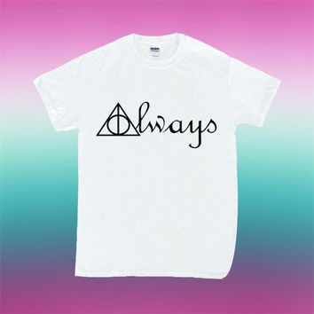 Always Deathly Hallows Symbols Harry Potter for T Shirt Mens and T Shirt Girls