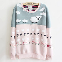 Pink Cartoon Small Coat Color Cotton Sweater from chiccasesandhomeproducts