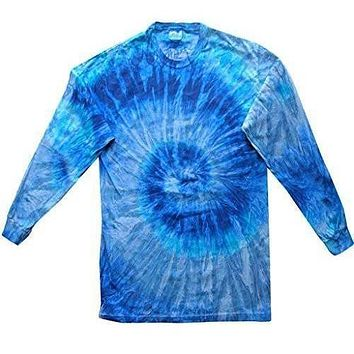 Yoga Clothing for You Mens Tie Dye Long Sleeve Tee Shirt