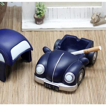 Fun vintage car resin ashtray for home decoration