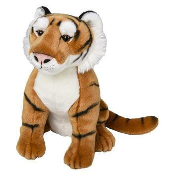 15 Inch Stuffed Tiger Plush Floppy Animal Kingdom Collection