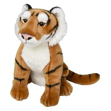 "15"" Stuffed Tiger Plush Floppy Animal Kingdom Collection"