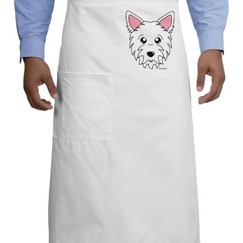 Cute West Highland White Terrier Westie Dog Adult Bistro Apron by TooLoud