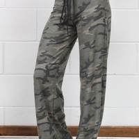 Soft Camouflage Print Lounge Pants {Army}