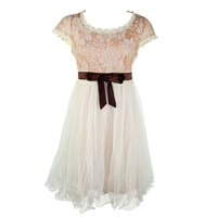 VS By Vivian Storms Women's Tea & Crumpits Dress Nude Medium