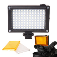 AriLight Mini LED Video Light Photo Lighting on Camera Hotshoe Dimmable LED Lamp for Canon Nikon Sony Camcorder DV DSLR Youtube