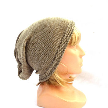 knitted wool hat, knitted winter autumn cap, knit colorful gray brown beanie hat, women men cloche, slouche, knitting accessories head dress
