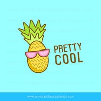 OOAK Premade Logo Design - Cool Pineapple - Perfect for a smoothie bar or a fun accessories brand