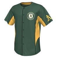 Majestic Oakland Athletics Team Leader Button-Up Jersey - Green