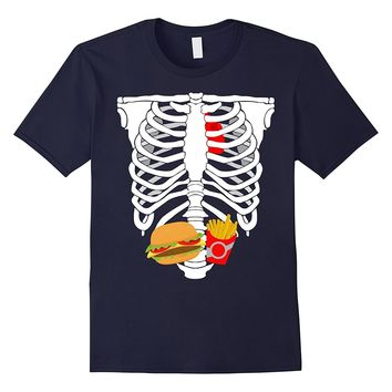 Skeleton Burger and Fries Funny Costume