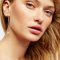 Free People 14k Gold Fill Coin Hoops