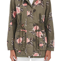 Members Only Floral Cotton Hooded Jacket | Barneys Warehouse