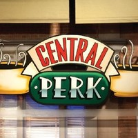 Friends Central Perk Window (Coffee Logo) TV Television Show Poster Print 24x36