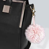 Faux Fur Pom Key Chain