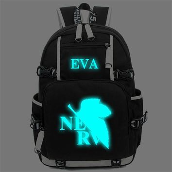 Anime Neon Genesis Evangelion EVA Backpack Cosplay High Quality Laptop  Shoulder School Bag Men Women Knapsack Mochila