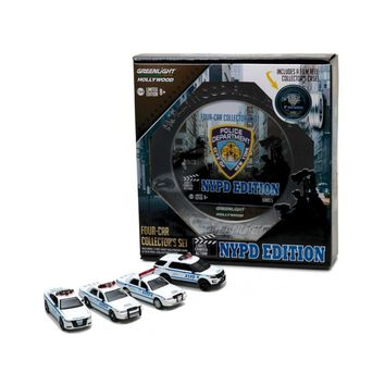 Hollywood Film Reels Series 5, 4pc Set NYPD Behind the Scenes Movie 1-64 Diecast Model Cars  by Greenlight