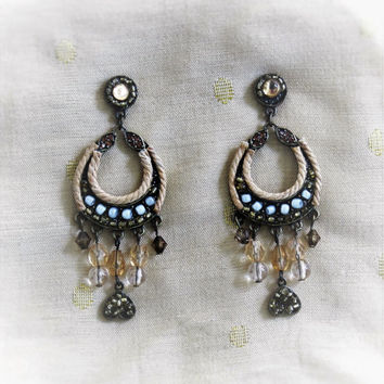 Vintage Chandelier Earrings Boho Hippie Tribal