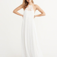Womens Halter Maxi Dress | Womens Dresses & Rompers | Abercrombie.com