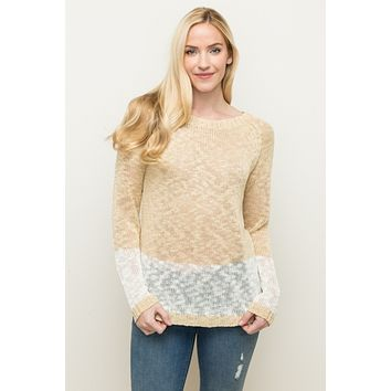 Carlee Color Block Pullover Sweater