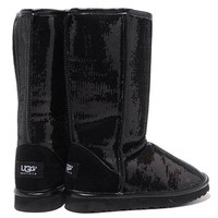 """UGG"" Fashion Winter Warm Women Wool Snow Boots Shoes Black I"
