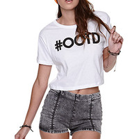 Riot Society OOTD Cropped Tee at PacSun.com