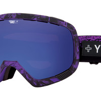 Spy - Platoon Masked Purple Goggles, Happy Rose W/ dark Blue Spectra + Happy Bronze W/ Silver Mirror Lenses