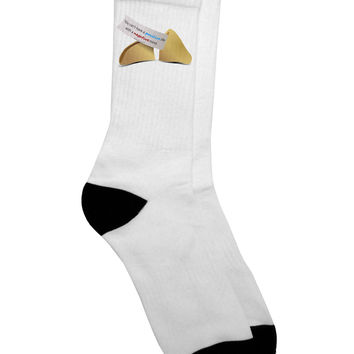 Positive Life - Fortune Cookie Adult Crew Socks