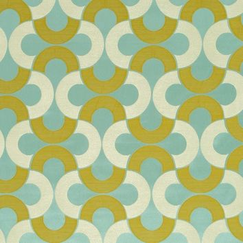 Beacon Hill Fabric 247715 Setting Circle Pacific
