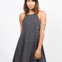 Ribbed A-Line Dress
