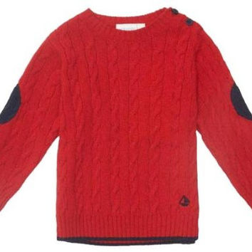 JoJo Maman Bebe Little Boys' Cable Knit Jumper