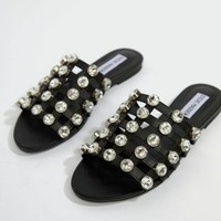 Steve Madden Lashes Jewel Slider Sandal at asos.com