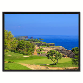 Coastal CA Golf Course Photo Canvas Print Pictures Frames Home Décor Wall Art Gifts