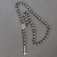 Gothic rosary // gothic jewelry // alchemy gothic jewellery // occult jewelry // occult necklace // satanic cross necklace // goth // witch