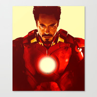 Tony Stark/ Iron Man/ Robert Downey Jr. Stretched Canvas by Hands in the Sky