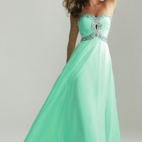 Strapless Prom Gown by Night Moves 6642,2013 Spring Prom Dresses
