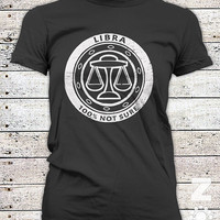 LIBRA / Zodiac / Astrology  / Dark Side / Ladies Graphic Tee Shirt